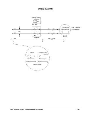 Wiring diagram | American Sanders EZ8 Drum Sander User