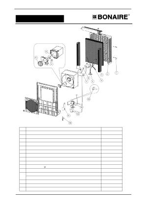 Parts list | Bonaire Durango Window Cooler User Manual | Page 16  24