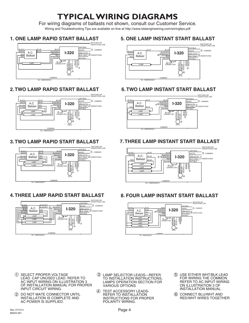 iota i 320 page4 eb60 emergency ballasts wiring diagram diagram wiring diagrams  at gsmx.co