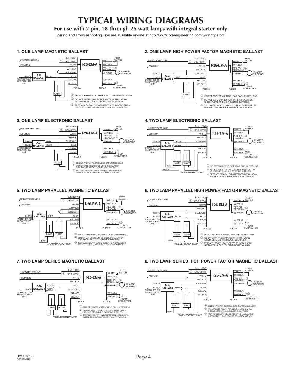 Unique Bodine Emergency Ballast Wiring Diagram Photos - Wiring ...