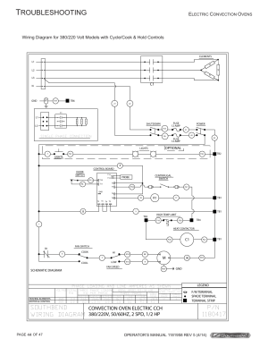 Roubleshooting, Southbend wiring diagram, Convection oven