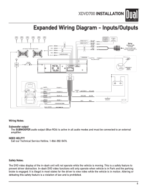 Expanded wiring diagram  inputsoutputs, Xdvd700