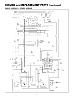 Service and replacement parts, Continued), Wiring diagram
