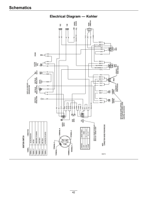 Schematics, Electrical diagram — kohler, Ignition switch | Exmark Lazer Z HP 565 User Manual