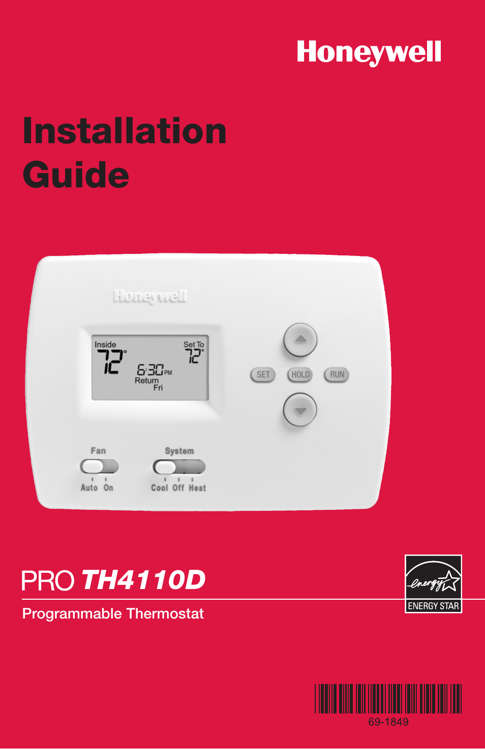 Honeywell Pro Th D User Manual