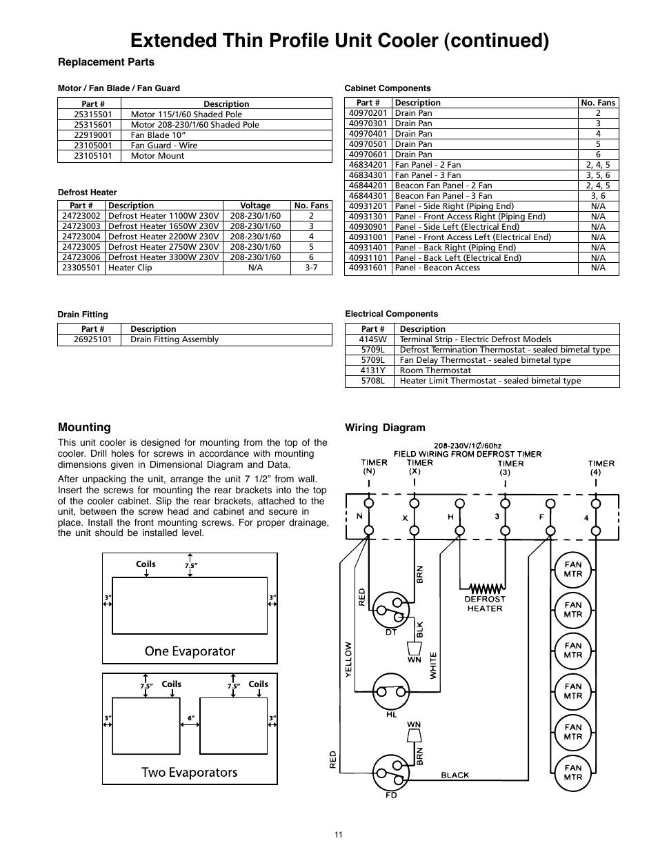 Larkin Evaporator Wiring Diagram 32 Images Brushless Esc Circuit Bohn Commercial Freezer Electrical Heatcraft Refrigeration Products 25005601 Page11resize