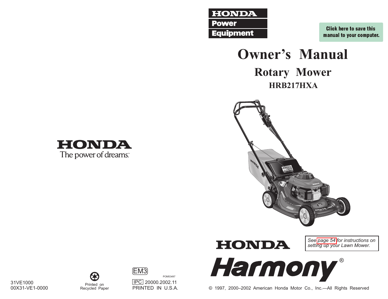 User Manual Honda Pcx