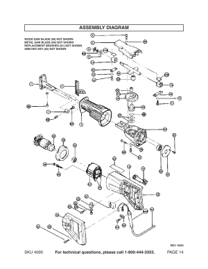 Assembly diagram | Harbor Freight Tools Chicago Electric