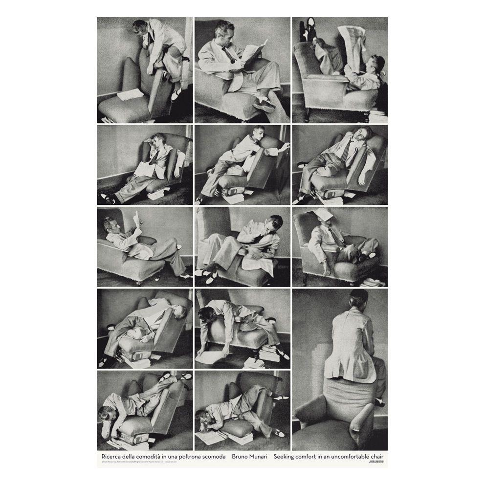 Arquitectura de cuarentena-Manu Barba. Búsqueda de la comodidad en una silla incomoda. Bruno Munari.