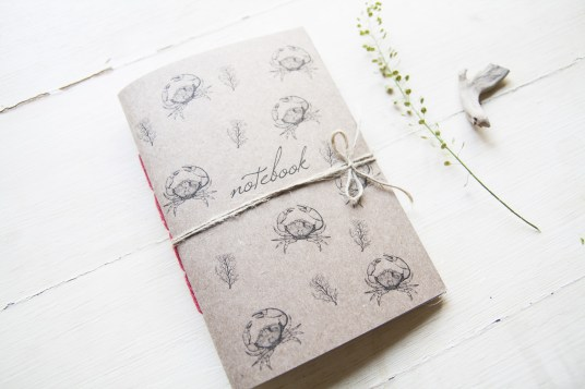 Granchi e coralli notebook - Tropical style