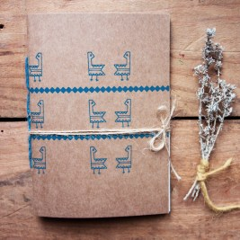 notebook tascabile gallinella blu