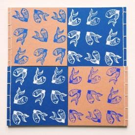 Lisboa - azulejos pesci taccuino quadrato