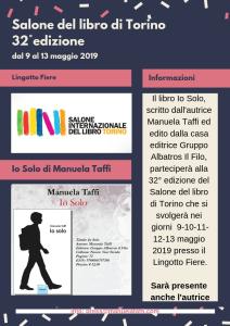 Salone del libro, Torino 2019 Manuela Taffi Autrice Io Solo Gruppo Albatros Il Filo Editore - Roma