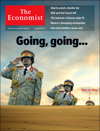 Gadafi en la portada de la revista The Economist