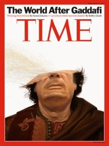 Gadafi en la portada de la revista Time