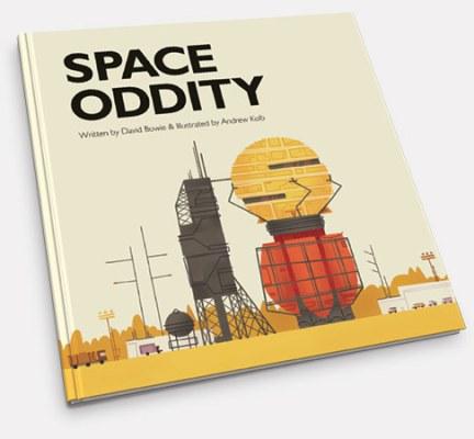 Space Oddity, de David Bowie como un cuento infantil, por Andrew Kolb
