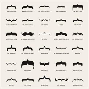 ¿Y si las tipografías fuesen bigotes?