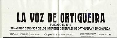Cabecera de La voz de Ortigueira