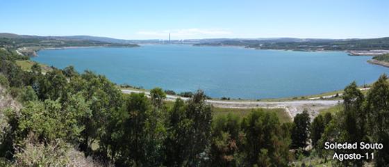 Panorámica del lago de As Pontes desde Espiñaredo (Foto Soledad Souto)