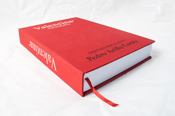 Valentina, tipografía de Pedro Arilla