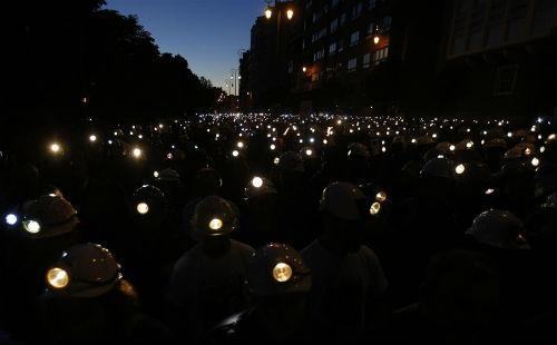 Marcha Negra en Madrid