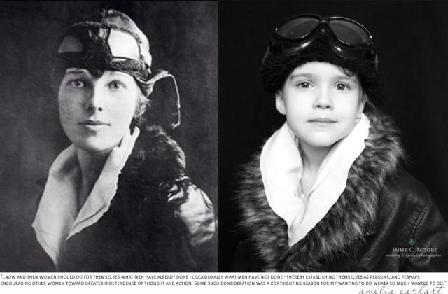 Amelia Earhart y Emma, foto de Jaime C. Moore