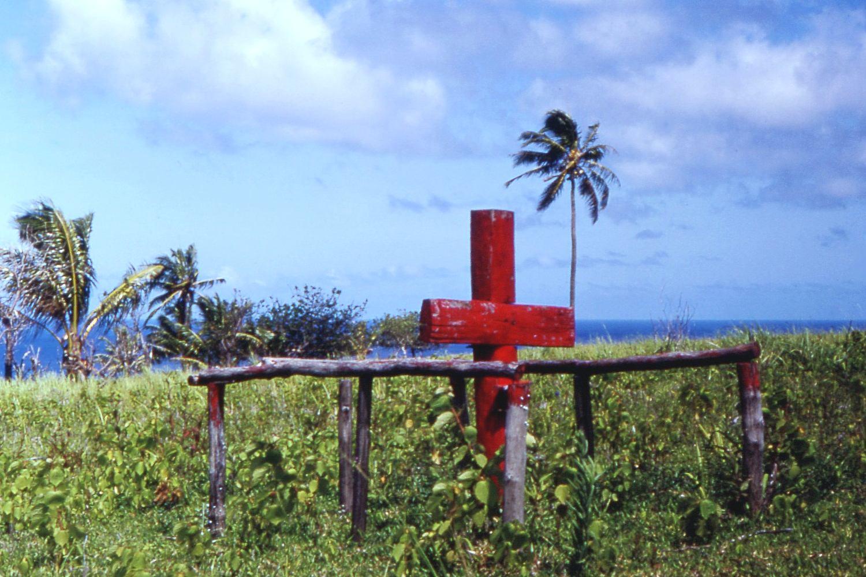 Cruz ceremonial del culto en Tanna