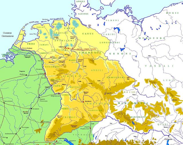Germania Magna entre los años 7 y 9