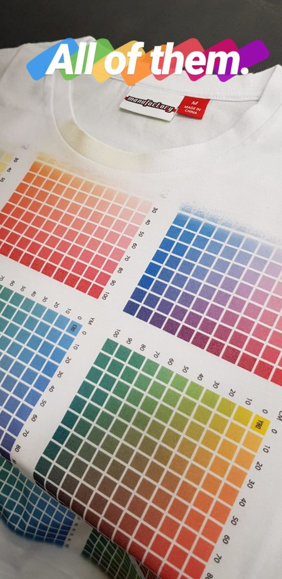 Color chart Manufactory Apparel