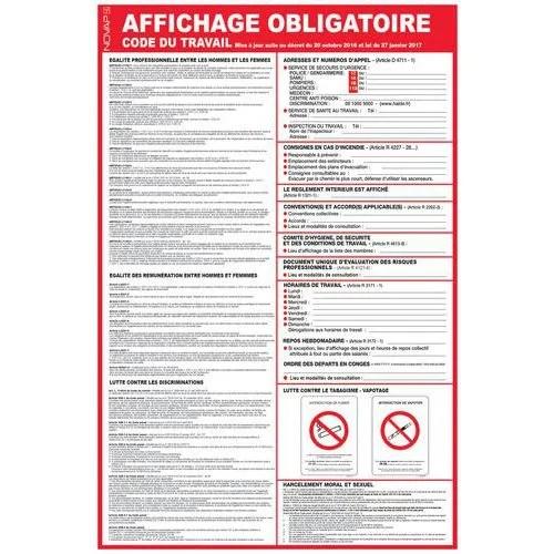 Panneau De Signalisation Reglementaire Affichage Obligatoire Code Du Travail Manutan Fr