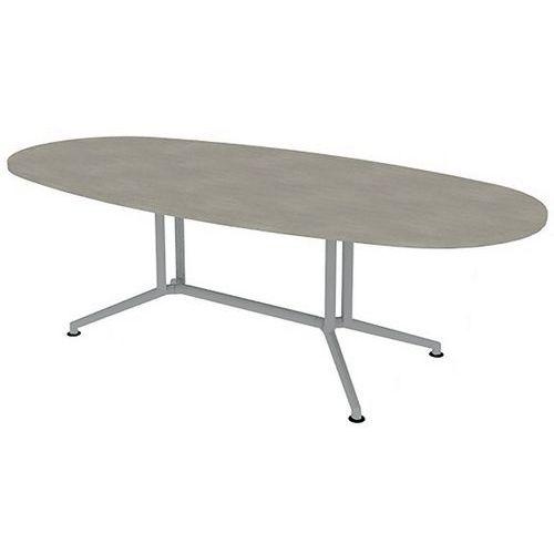 table de reunion avec plateau ovale longueur 240 cm quadrifoglio manutan fr