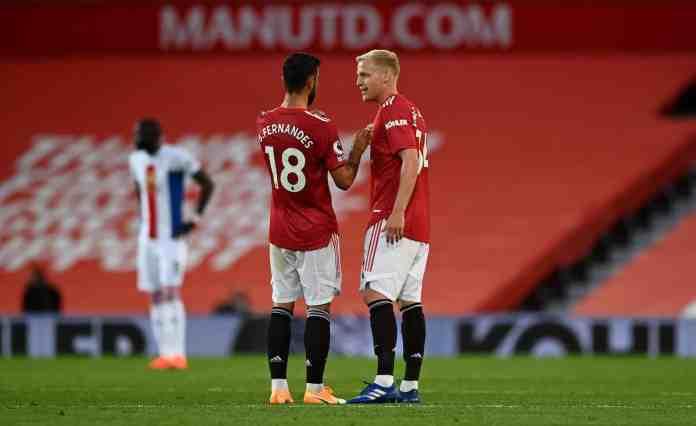 Donny Van de Beek, Bruno Fernandes, Manchester United