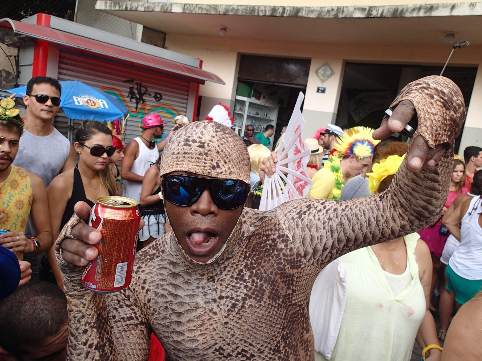 reveller at rio carnival