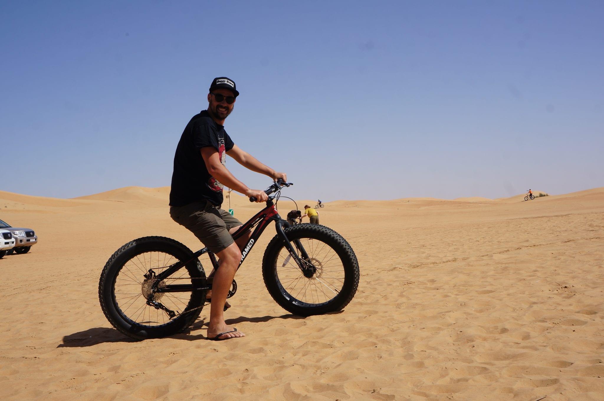 riding a desert bike in dubai