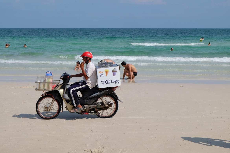 motorbike on sao beach