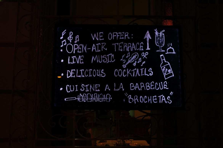 bar menu cienfuegos