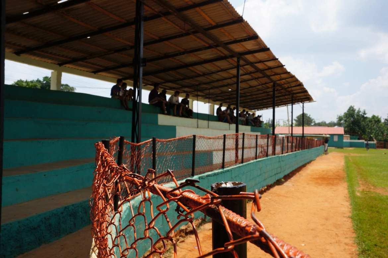 the crowd at vinales baseball stadium, cuba