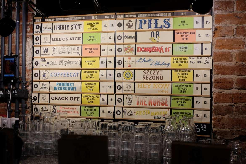 List of beers in Kufle i Kapsle, warsaw