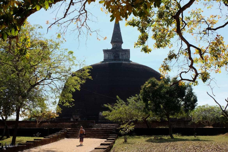 a dagoba in in polonnaruwa, Sri Lanka