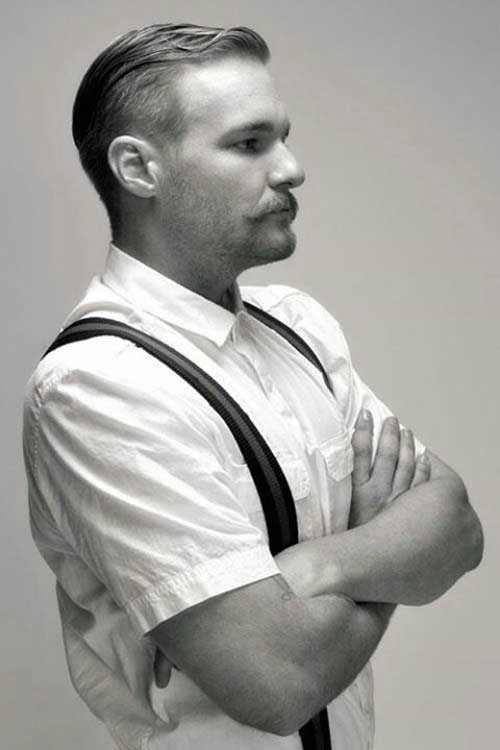 Image showing a vintage taper fade men's haircut