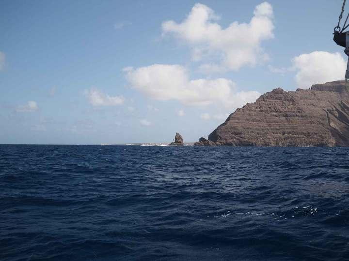 Arrivée au nord de Lanzarote, après notre navigation depuis Gibraltar.