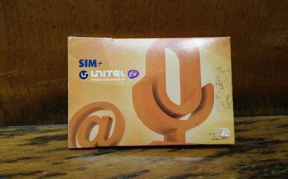 Carte SIM achetée au Cap-Vert du réseau Unitel T+.