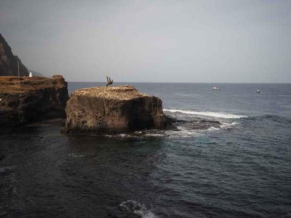 Bord de mer près de Ponta do Sol, sur l'île de Santo Antao.