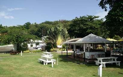 Bar de Prickly Bay Marina à Grenade.