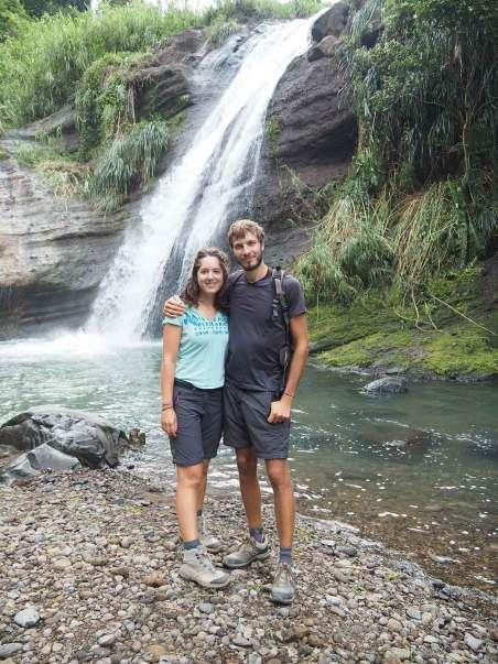"""Cascade """"Concord Falls"""" sur l'île de Grenade."""