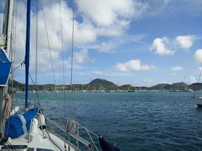 La baie du Marin au sud de l'île de la Martinique.