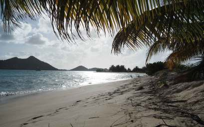 La plage de Sandy Island à Carriacou