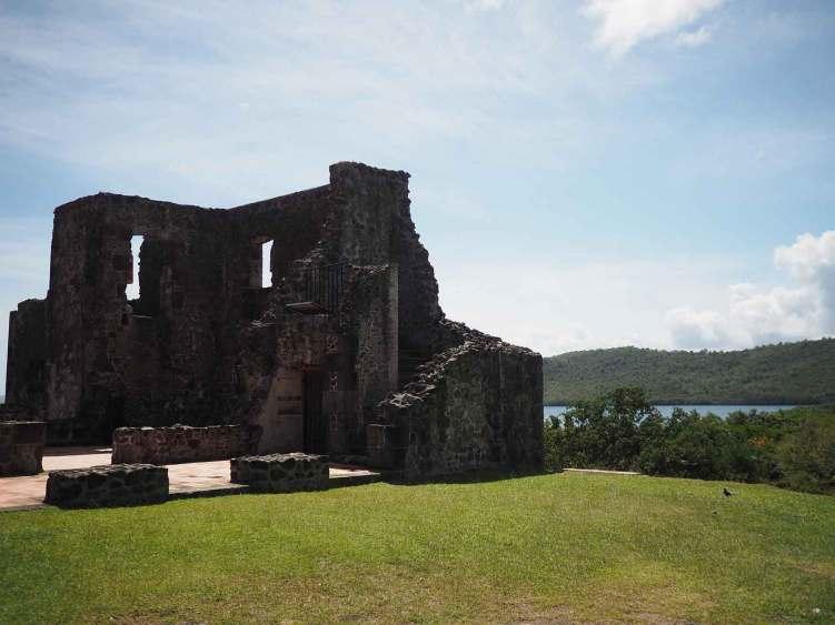 Château Dubuc en Martinique, sur la presqu'île de la Caravelle.