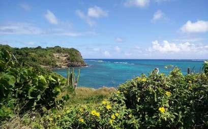 Côte est de la Martinique, sur la pointe du Vauclin.