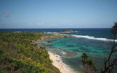 La magnifique côte aux eaux turquoise de la pointe sud de l'île de la Martinique.